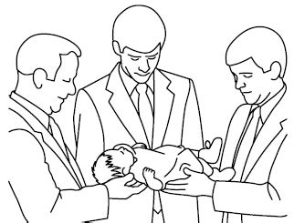 lds coloring pages blessings lds baby blessing clipart 13