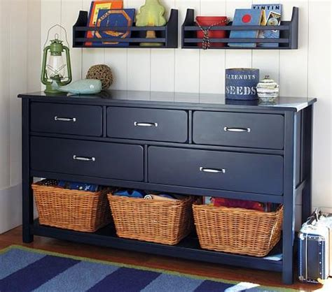 dark blue boys bedroom c extra wide dresser pottery barn kids