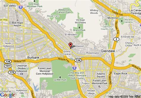 california map glendale los angeles map glendale
