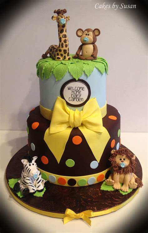 Safari Cakes Baby Shower by 25 Best Ideas About Zoo Animal Cakes On