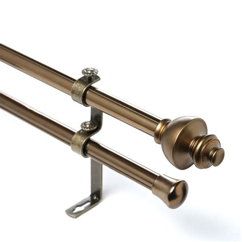 double curtain rod hardware rod desyne dynasty double curtain rod and hardware set