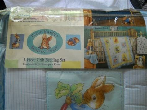 peter rabbit crib bedding nip beatrix potter peter rabbit 3 piece crib bedding set