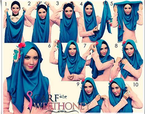 tutorial hijab pesta untuk wajah lonjong tutorial hijab modern untuk wajah lonjong new tutorial hijab