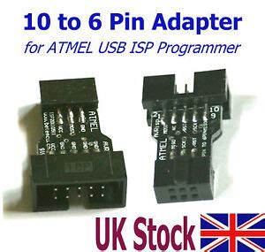 10 pin to 6 pin isp cable 10 pin to 6 pin adapter for atmel usb isp avr programmer