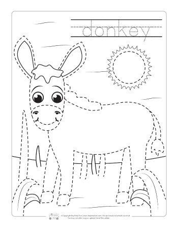 Itsy Bitsy Animals farm animals tracing coloring pages itsy bitsy
