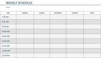Monthly Schedule Template by Monthly Schedule Template Cyberuse