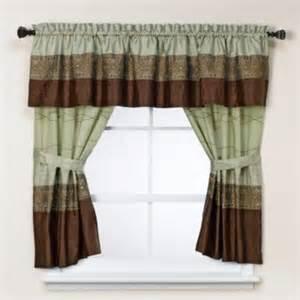 Silk Sari Curtains Kas Romana Bathroom Window Curtain Pair In Green