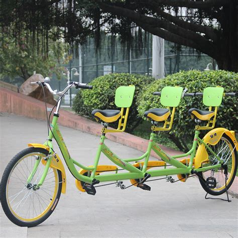 24 inch three seat bicycle tandem bike leisure sightseeing