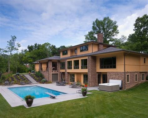 House Plans With Walkout Basement And Pool by Walkout Basement Pool Design Ideas Remodels Photos