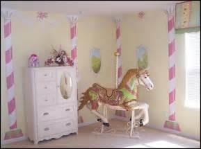 Shared Girls Bedroom Ideas carousel horse for girls room carousel thme bedroom girls