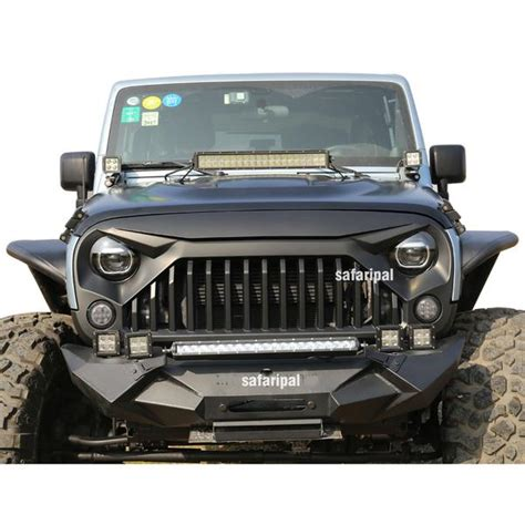 Jeep Tj Grille Safaripal Jeep Wrangler Gladiator Angry Front Grille Grill
