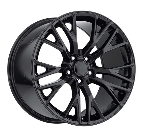 c7 corvette gloss black oem style z06 wheels fitment for