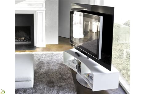 carrello porta tv design porta tv curvo e girevole odeon arredo design