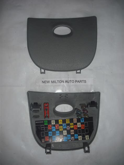 renault scenic mk dash fuse box cover trim panel door light grey
