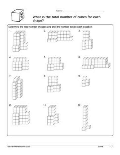 Volume Of Composite Figures Worksheet by Volume Cube Worksheet Worksheets