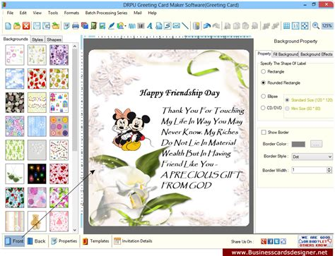 free card program card invitation design ideas greeting cards designer