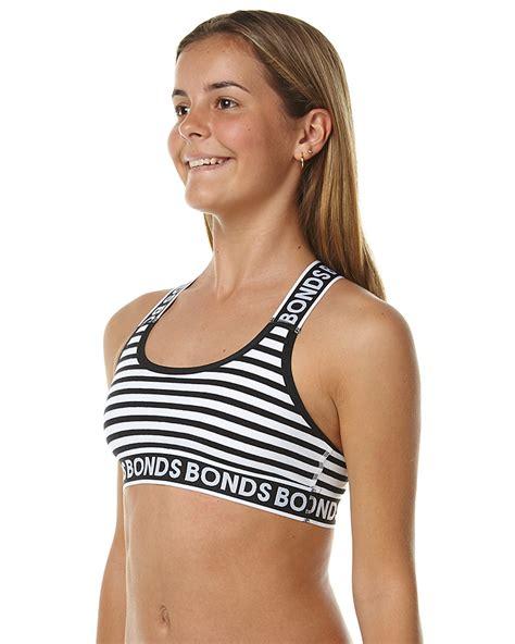 bonds girls underwear bonds kids girls new era wideband racer crop stripe 63