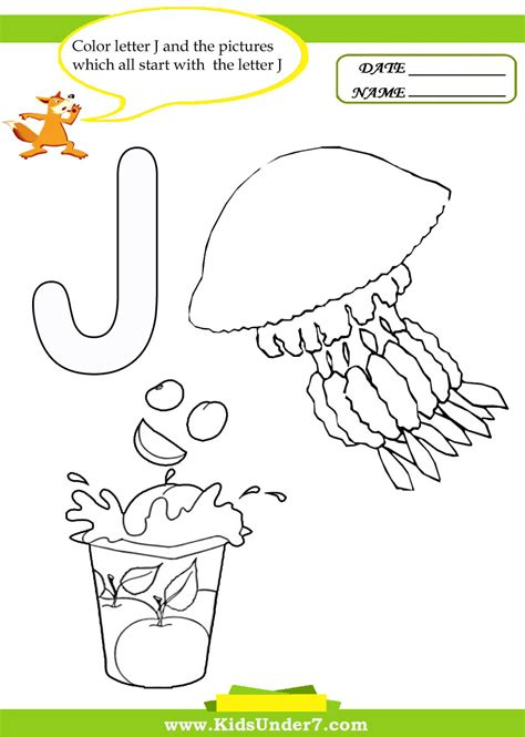College With Letter J Free Coloring Pages Of J Lettering