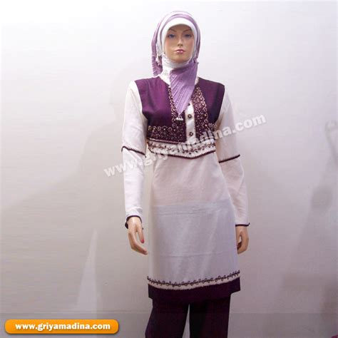 Stelan Zeran Putih Stelan Wanita baju wanita setelan madina griya busana muslim busana muslim baju muslim setelan baju