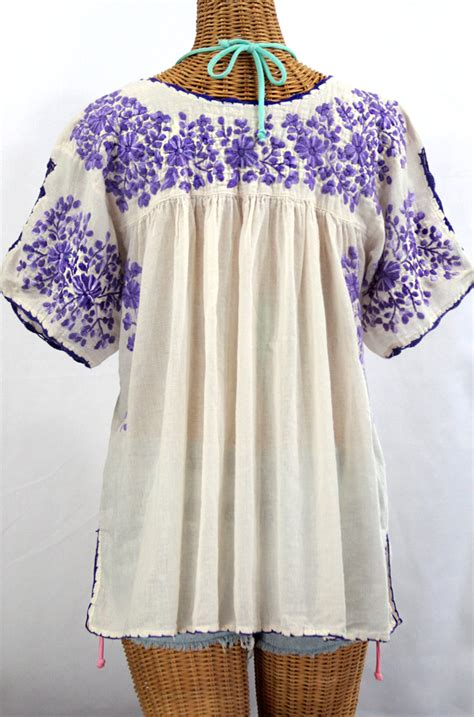 Blouse By Liblre quot lijera libre quot plus size embroidered blouse white purple