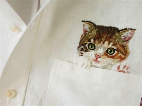 Blouse Motif Cat as seen on the internets pocket shirt cats