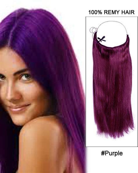purple remy hair extensions 16 4 medium brown flip in human hair extension