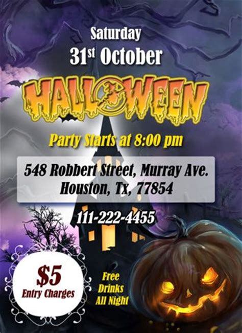 Halloween Pary Ms Word Flyer Ready Made Templates Pinterest Ready Made Templates Free