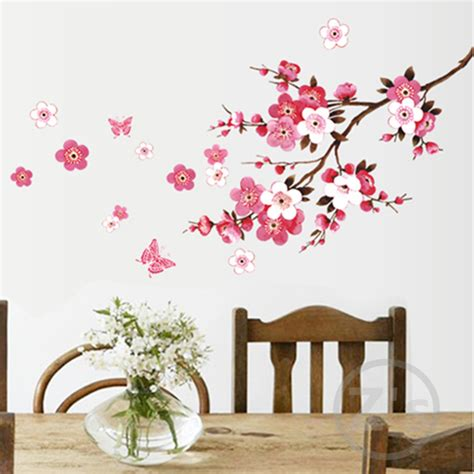 wall stickers tree branches flowers wall decals tree branches wall sticker home decor