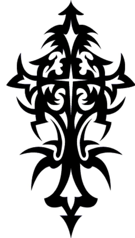cross tattoo stencils free cool tribal cross designs clipart best