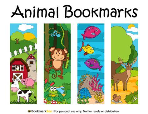printable bookmarks of animals printable animal bookmarks