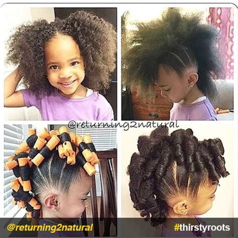 hair growth with set hairstyle 20 cute natural hairstyles for little girls