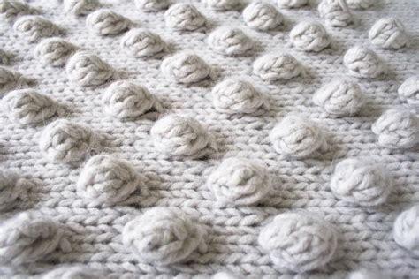 bobble blanket knit pattern falling bobbles blaket by purl soho lanecardate