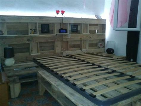 king size bed headboard with storage pallet bed with headboard and storage