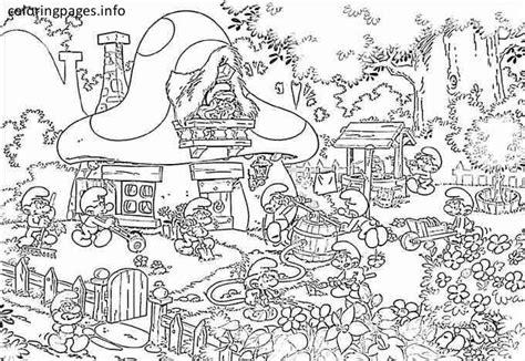 coloring pages activity village smurf village coloring pages coloring pinterest free