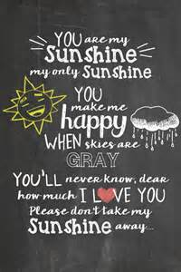 You Are My Sunshine Free Chalkboard Printable Juggling