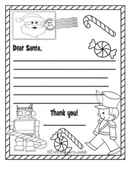 coloring page letter to santa letter to santa coloring page part 4