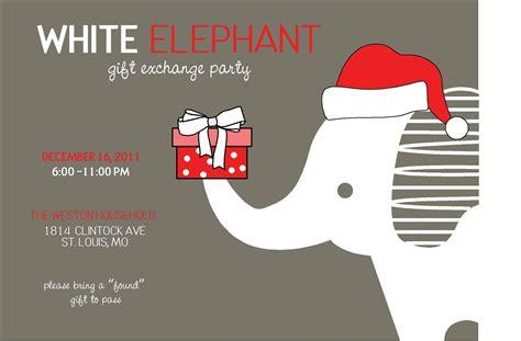 News And Entertainment White Elephant Gift Jan 04 2013 22 46 17 Free White Elephant Invitation Template