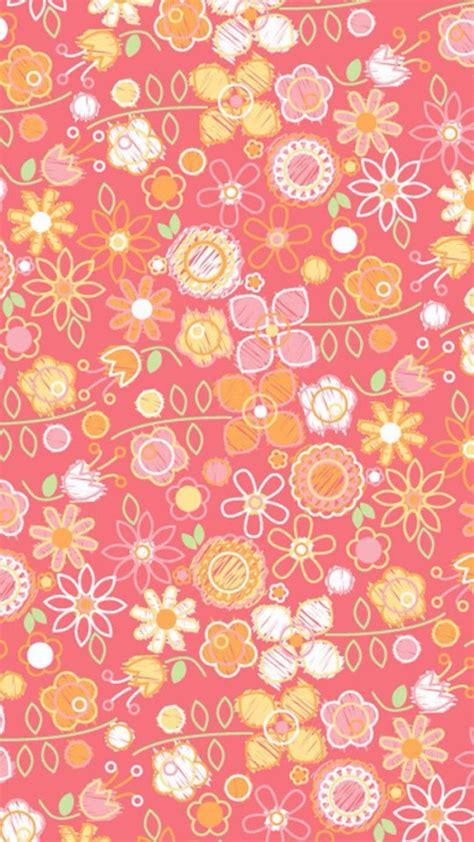 flower pattern iphone wallpaper hand drawn pink flower pattern iphone 6 6 plus and