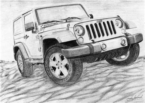 jeep artwork how to draw jeep wrangler