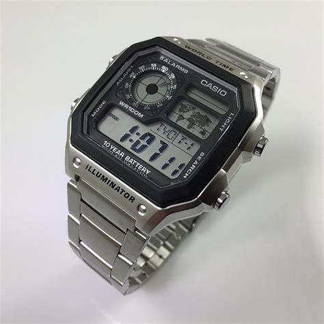 Casio Ae1200whd 1 s casio world time digital ae1200whd 1a