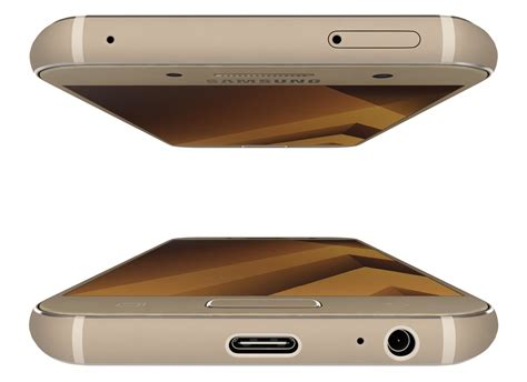 Samsung A3 Warna Gold Samsung Galaxy A3 2017 Gold Sand 3d Model Max Obj 3ds Fbx