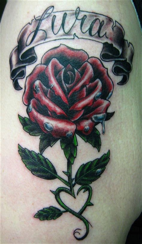 heart shaped rose tattoo shaped vine tattoos and piercings