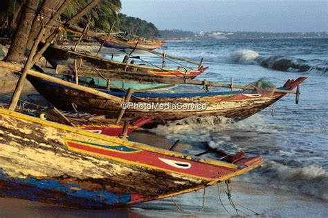 Landscape Boat Photo Fishing Boats At Evening