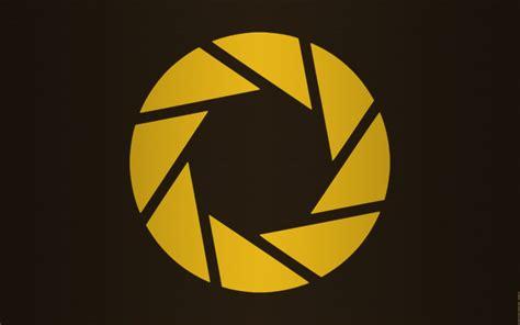 logo abstract wallpaper portal 2 aperture wallpaper