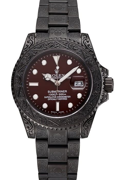 Rolex Black Limited rolex submariner black skull limited edition brown replica review best quality luxury