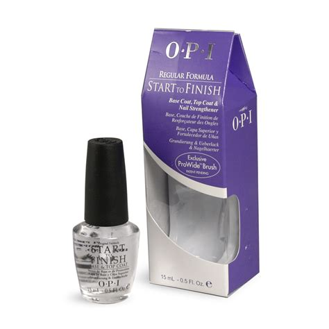 O P I Top Coat start to finish de o p i base coat top coat