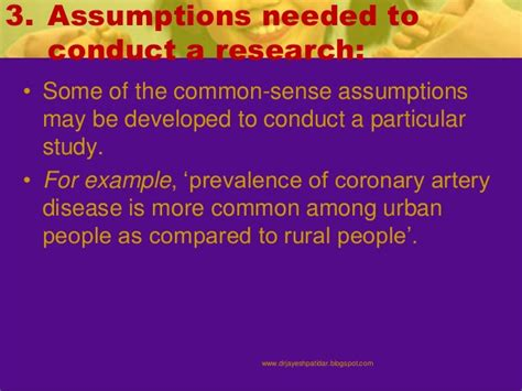 exle of assumption in research paper research assumption