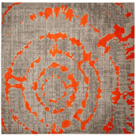 Gray And Orange Area Rug Safavieh Porcello Light Grey Orange 6 Ft 7 In X 6 Ft 7 In Square Area Rug Prl7735f 7sq The
