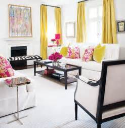 Living Room With Yellow Curtains Yellow Curtains Contemporary Living Room Style At Home