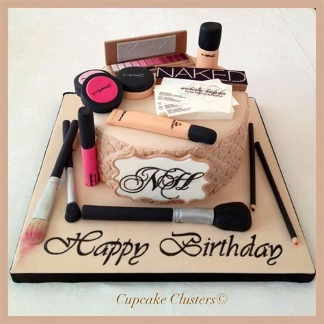 makeup themed birthday cake makeup cake cakes pinterest